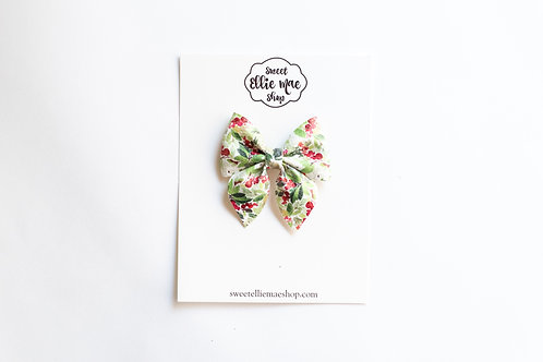 Holly Berry | Mini or Large Sailor Bow