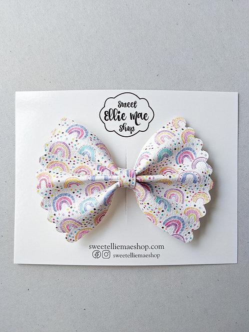 Cutie Rainbows  |  Scalloped Ellie Bow