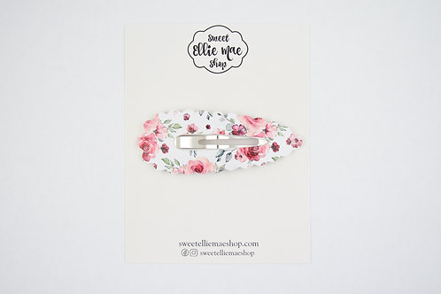 Rosey Blooms | XL Scalloped Snap Clip