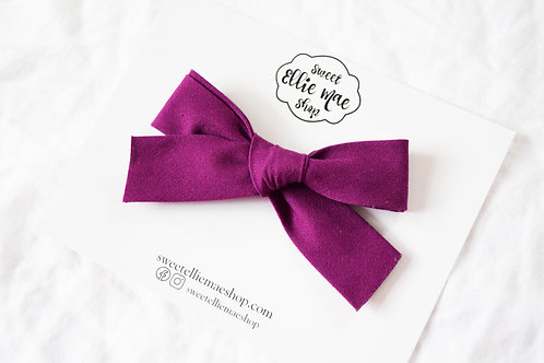 Berry | Hand-tied Gracie Bow