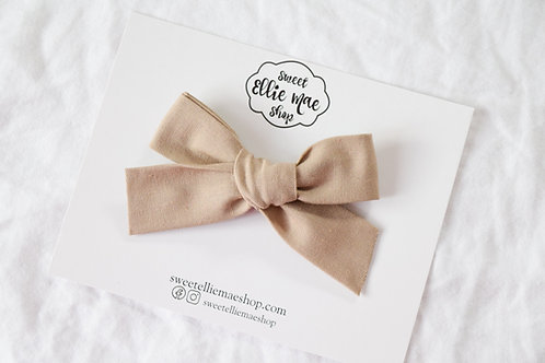 Sand | Hand-tied Gracie Bow