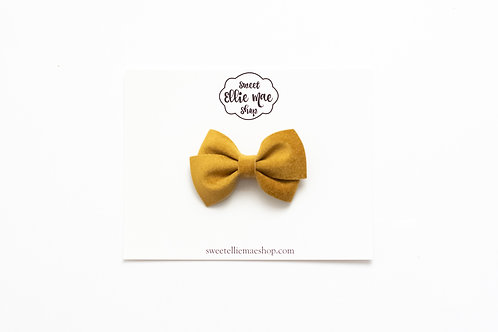Butterscotch Velvet | Mini Lou Bow