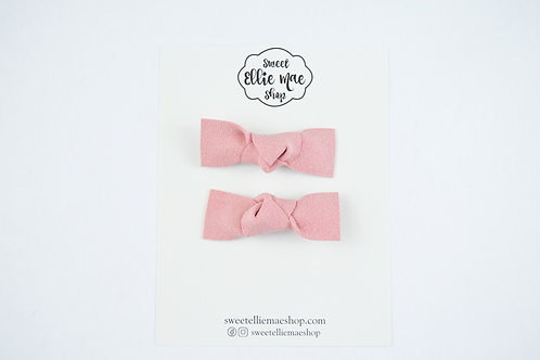 Blush Suede | Knotted Bow