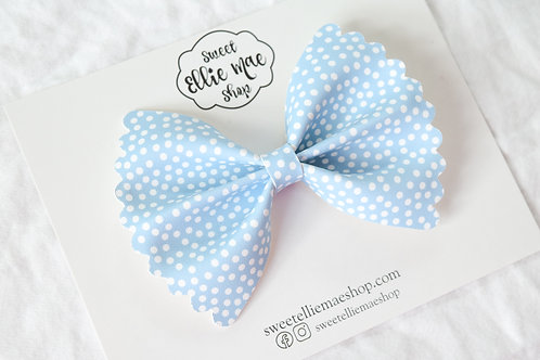 Snowy Skies |  Scalloped Ellie Bow