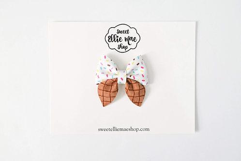 Vanilla Cone | Mini Sailor Bows