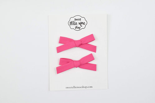 Watermelon Pink   Hand-tied Emma Bows