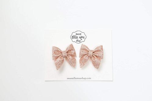 Pale Rose Gold | Mini Sailor Bows