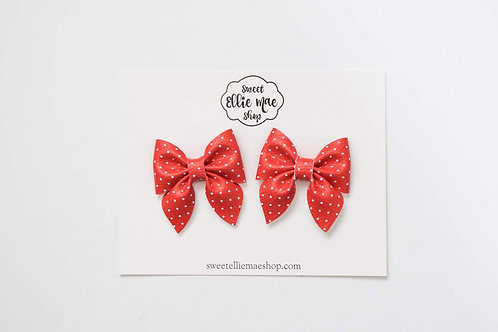 Red Mini Polka Dots | Mini Sailor Bows
