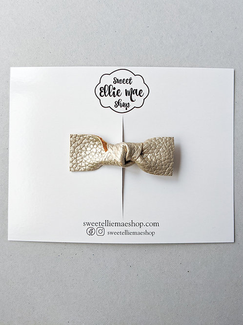 Pale Gold   Knotted Bow