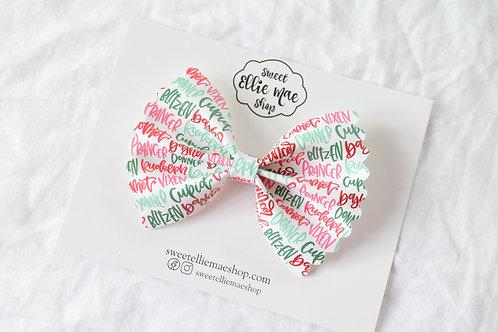 Reindeer Names |  Scalloped Ellie Bow