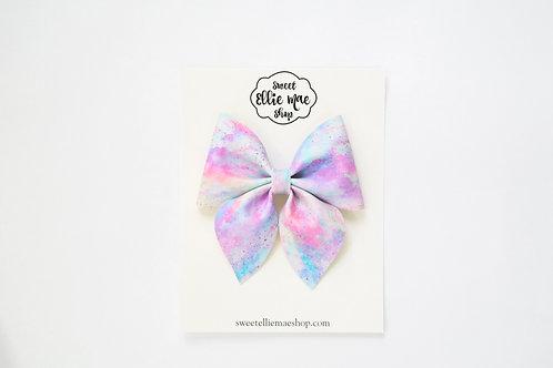Cotton Candy Clouds | Large Sailor Bow