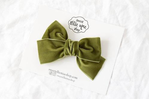 Olive | Hand-tied Velvet Bow