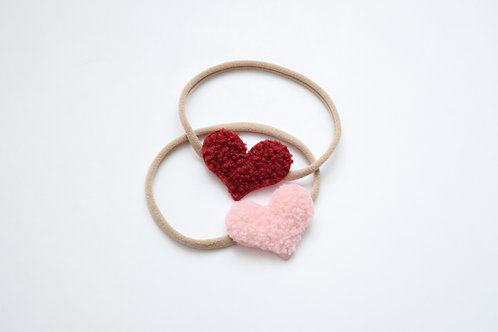 Sherpa Hearts Headbands