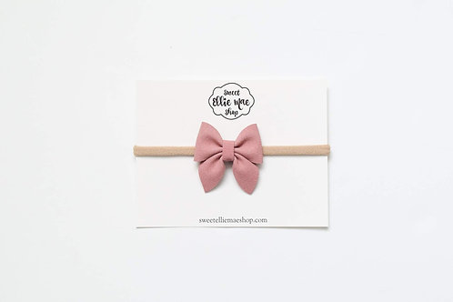 Dusty Rose | Mini Sailor Bow