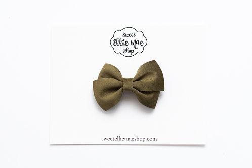 Olive Velvet | Mini Lou Bow