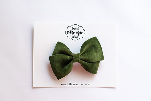 Pine Velvet | Thick, Mini or Little Lou Bows