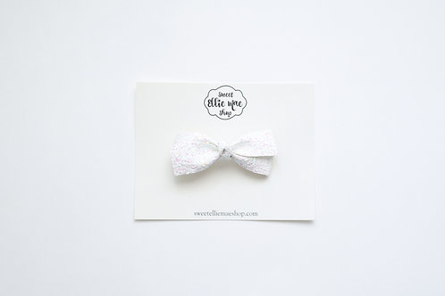 White with Pink Iridescent | Little Lou Bow