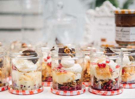 BONNE MAMAN DULCE DE LECHE AND POMEGRANATE TRIFLE