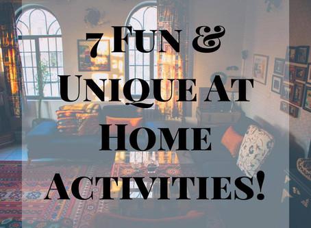 FUN AT HOME ACTIVITIES
