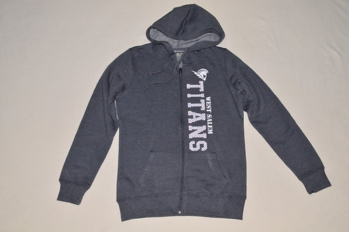 Women's Medium Grey FullZip Hoodie