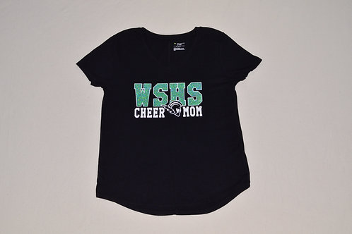 Women's WSHS Cheer Mom V-Neck Tee