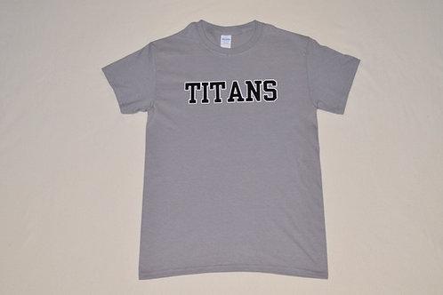 Men's Grey Titan Tee with Wordle on Back
