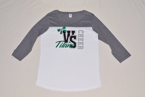 Women's WS Titans Cheer 3/4 Sleeve Tee