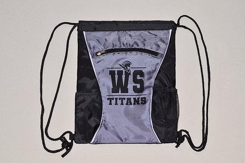 West Salem Cinch Backpack with Black Logo