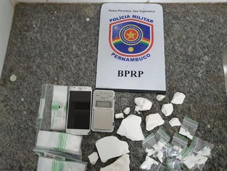 Suspeito de tráfico de drogas é preso em Portal Larga