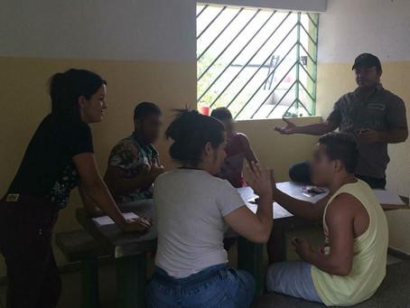Esporte, arte e meio ambiente durante recesso escolar de jovens da Funase