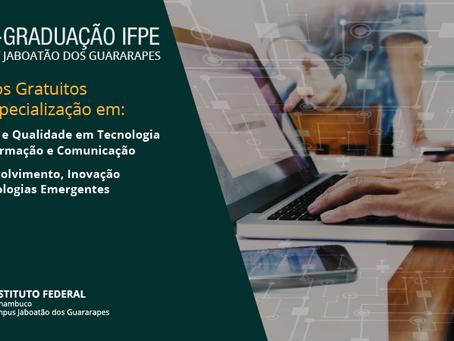 IFPE Jaboatão lança edital para pós-graduação