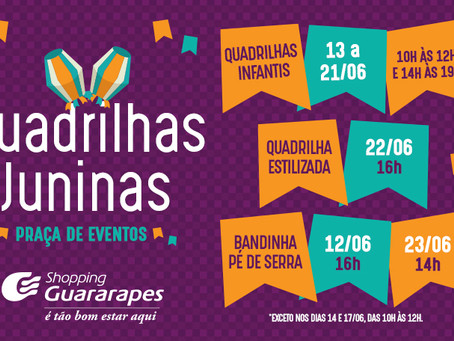 Quadrilhas juninas no Shopping Guararapes