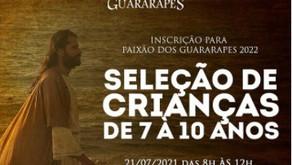 Paixão dos Guararapes faz seleção para crianças de 7 a 10 anos