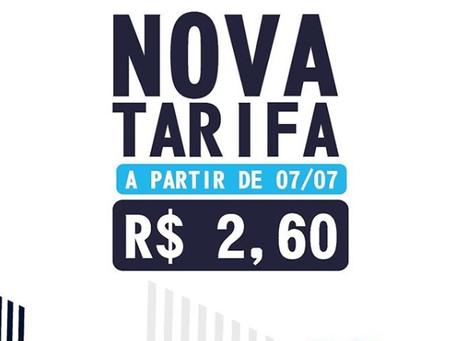 Tarifa do Metrô do Recife será de R$2,60