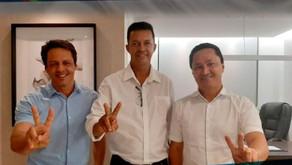 Irmão Dé se reúne com o deputado André Ferreira e com o vereador Fred Ferreira