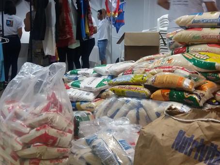 Paróquia de Santo Antônio arrecada roupas e alimentos aos desabrigados