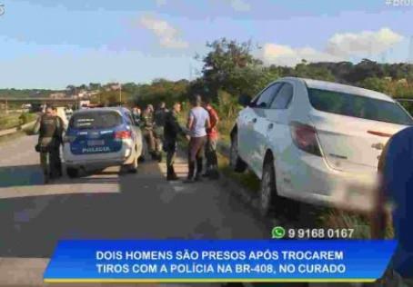 Homens são presos após trocar de tiros com a polícia em Jaboatão