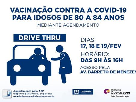 Campanha de imunização contra Covid-19 no Guararapes