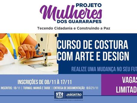 Curso de costura com arte e design em Jaboatão