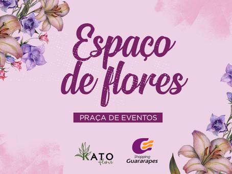 Espaço de Flores para o Dia dos Namorados no Guararapes