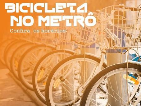 CBTU informa horários para transportar bicicleta no Metrô