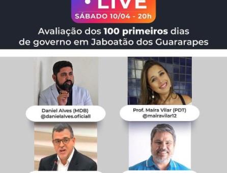 Live avalia os 100 primeiros dias de governo em Jaboatão dos Guararapes