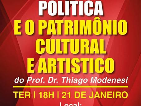 Thiago Modenesi faz lançamento de livro nesta terça