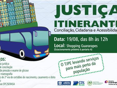 Ação da cidadania do TJPE com serviços gratuitos no Guararapes