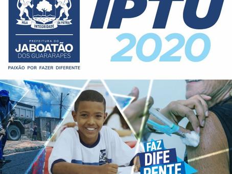 Contribuintes do Jaboatão ganham até 30% de desconto no IPTU 2020