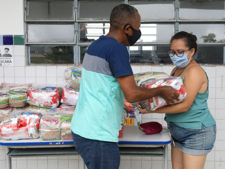 Jaboatão inicia nona etapa da entrega de kits de alimentos aos alunos da rede municipal