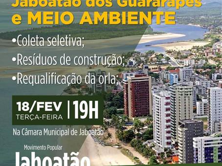 Movimento Jaboatão Pode Mais promove debate sobre meio ambiente