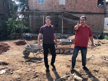 Vereador e secretário visitam a comunidade Rio das Velhas