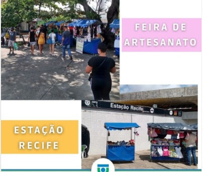 Feira de Artesanato na área externa da Estação Recife