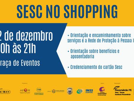 Sesc PE e Rede de Apoio à Pessoa Idosa realizam campanha sobre direito e acolhimento no Guararapes